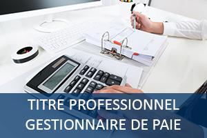 titre professionnel gestionnaire de paie